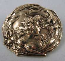 Beautiful Unger Brothers Stering Art Nouveau Pin