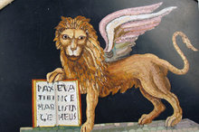 Rare Micromosaic St Mark Venice Lion Italian Plaque