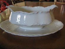 Haviland Limoges Gravyboat, White Ranson