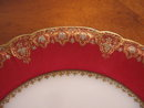 Haviland Limoges Burgundy Lunch plate with gold & silver