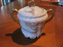 Haviland Limoges sugar bowl  with lid, Sch 492A