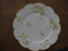Haviland Limoges Dinner plate, yellow roses