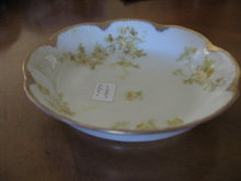 Haviland Limoges sauce bowl, yellow roses