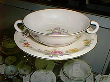 Haviland American Cream soup & underplate