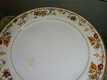 Haviland Limoges luncheon plate, Autumn Pattern