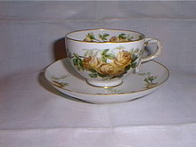 Haviland Limoges handpainted  8 cups and