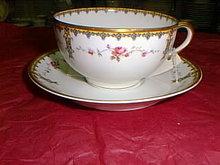 Haviland Limoges coffee cup & saucer, Schleiger 920