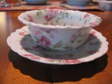 Haviland Limoges Ramekin cup & saucer, Schleiger 39F