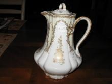 Haviland Limoges chocolate pot with Musical instruments