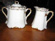 Haviland Limoges Creamer & Sugar