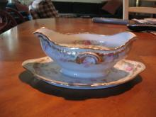 Haviland Limoges Gravy with attached underplate