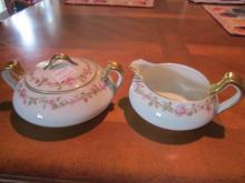 Haviland Limoges Creamer & Sugar set