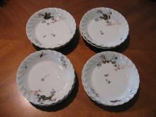Haviland Limoges set of 8 sauce bowls, meadow visitor variation