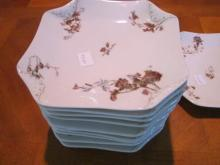 Haviland Limoges set of 12 Old Pansy salad plates