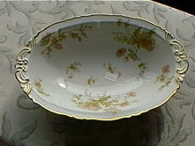 Haviland's Poppy, Limoges open oval vegetable bowl