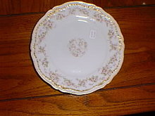Haviland Limoges salad plate, roses & gold