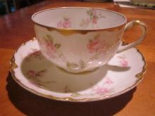 Haviland Tea cup and saucer, Schleiger 31