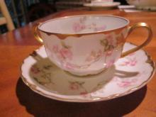 Haviland bouillon cup and saucer, Schleiger 31