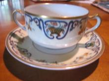 Haviland Limoges Bouillon cup and saucer, Sch 114B