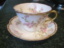 Haviland Limoges tea cup and saucer, Schleiger 29K