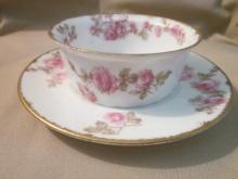 Limoges ramekin cup and saucer