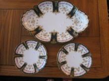 Dessert platter and 6 matching plates, Haviland, Limoges