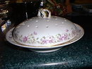Haviland Limoges Pancake Server with Lavender flowers