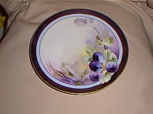 Haviland Limoges Hand Painted by White Art Studio decorator plate