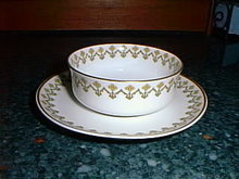 Haviland Limoges Ramekin cup and saucer, Schleiger 570