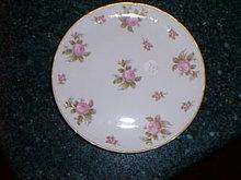 Haviland Limoges dessert plate, pink roses