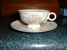 Haviland cup & saucer, Apple Blossom pattern