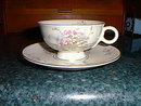 Haviland cup & saucer, Apple Blossom pattern