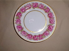Haviland Limoges bread & butter plate, large roses.