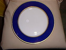 Set of 6 Cobalt Service plates by Haviland &