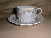 Haviland Limoges cup and saucer in the Valmont pattern