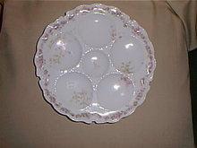 Haviland Limoges Oyster plate, pink roses