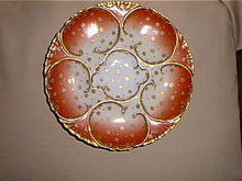 Haviland Limoges Oyster plate, Antique Rose,