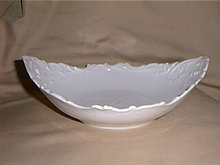 Haviland Limoges fancy white serving bowl
