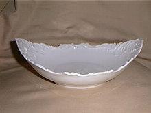 Haviland Limoges fancy white serving bowl