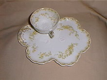 Haviland Limoges tea & toast set, Schleiger 51A