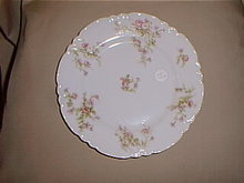 Haviland Limoges luncheon plate with pink roses