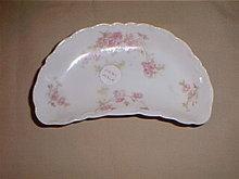 Haviland Limoges Bone dish, Sch 42H, pink roses