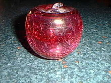 Cranberry glass apple