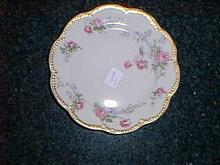 Haviland Limoges bread & butter plate, pink roses