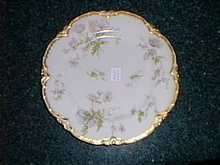 Haviland Limoges lunch plate, heavy gold trim