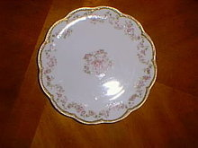 Haviland Limoges dessert plate, Sch 270A, pink roses