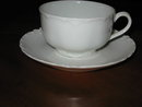 Haviland Limoges teacup and saucer, Ranson blank