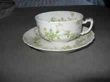 Haviland Limoges teacup and saucer, Sch 74