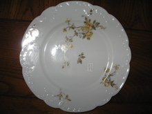 Haviland Limoges dinner plate with yellow roses, Sch 266