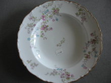 Limoges Rimmed soup bowls, set of 6